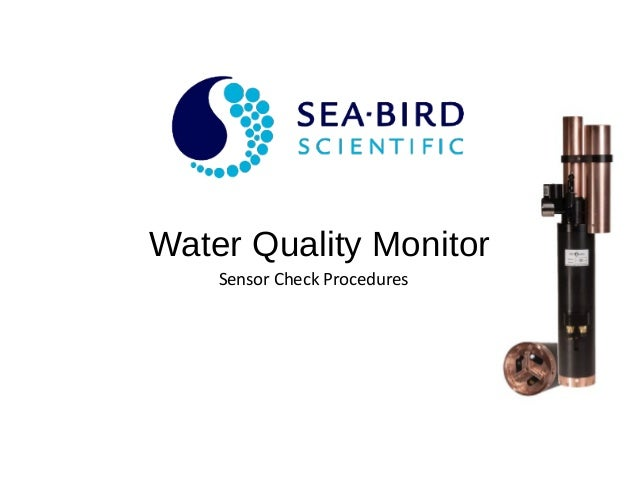 Water Quality Monitor Sensor Check Procedures