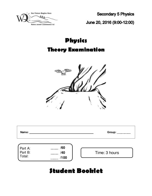 Physics Exam June 2016 Student Booklet