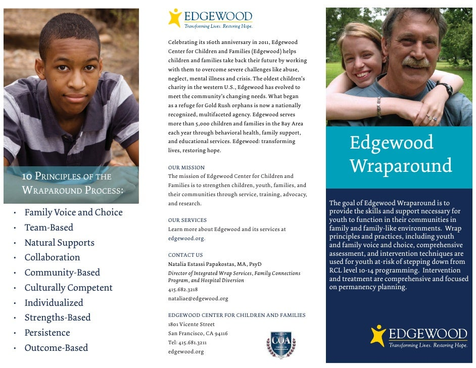 Celebrating its 160th anniversary in 2011, Edgewood                            Center for Children and Families (Edgewood)...