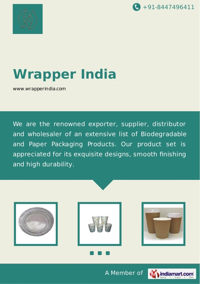 +91-8447496411  Wrapper India www.wrapperindia.com  We are the renowned exporter, supplier, distributor and wholesaler of ...