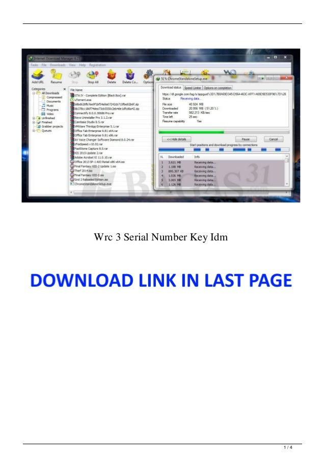 Wrc 3 Serial Number Key Idm