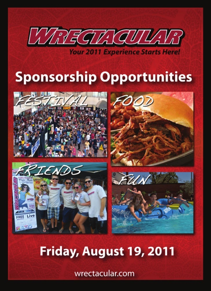WRECTACULAR Sponsorship Opportunities
