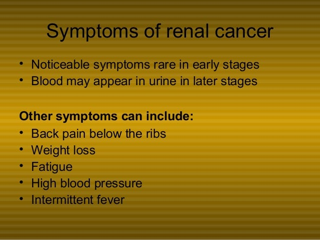 Kidney Cancer And Chronic Kidney Disease A Causal Link By Wanda Reese
