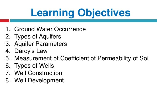 Groundwater Hydrology Slide 2