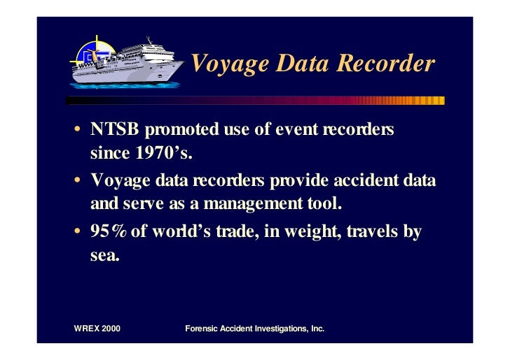 Voyage Data Recorder : D transportation event data recorders slides