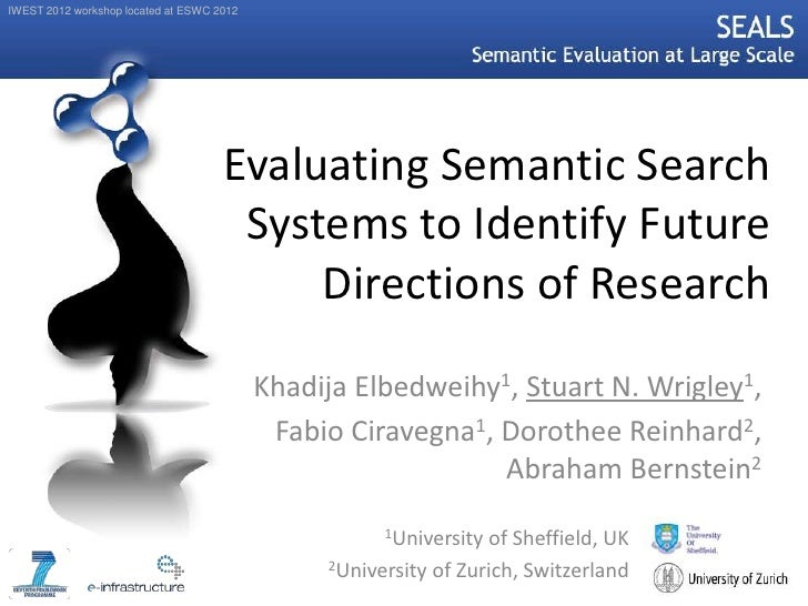 IWEST 2012 workshop located at ESWC 2012                                     Evaluating Semantic Search                   ...