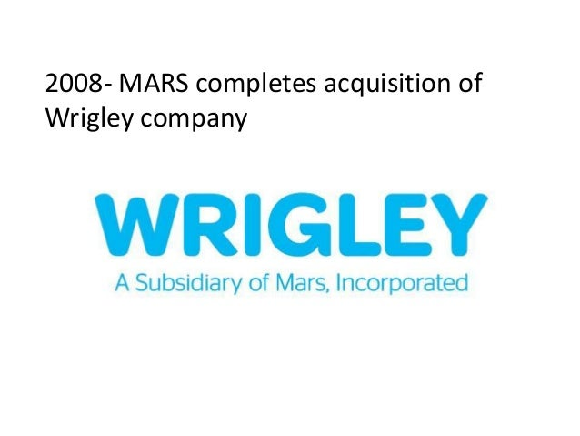 Wrigleys innovation in china 2008 mars completes acquisition ofwrigley company altavistaventures