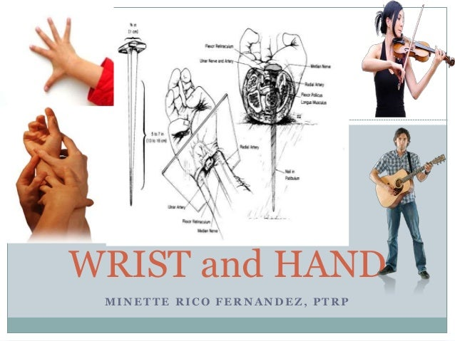 MINETTE RICO FERNANDEZ, PTRP WRIST and HAND