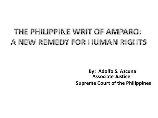 By: Adolfo S. Azcuna      Associate JusticeSupreme Court of the Philippines