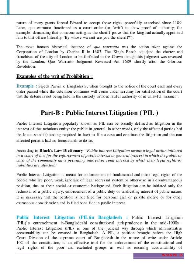 public interest litigation cases in india pdf download