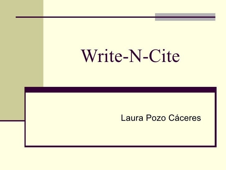 Write-N-Cite  Laura Pozo Cáceres