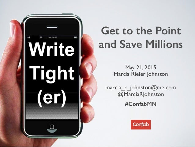 Write Tight (er) May 21, 2015