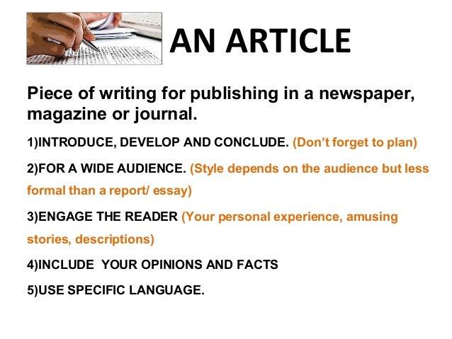 how to write a magazine article pdf