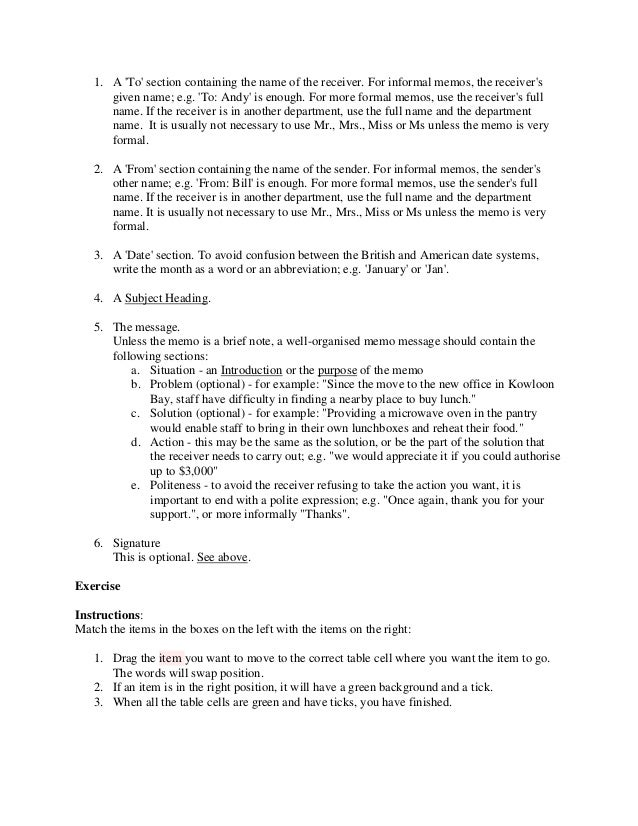 Formal Memo Formal Policy Memo Example Template  Formal