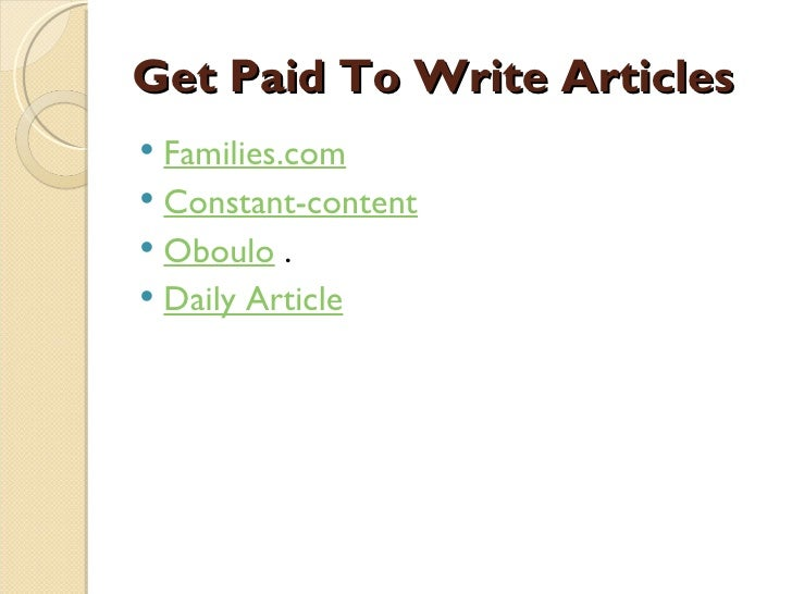 Top 10 Sites Where You Can Get Paid to Write