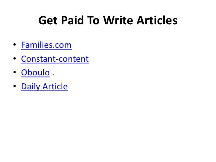 get paid to write wikipedia articles