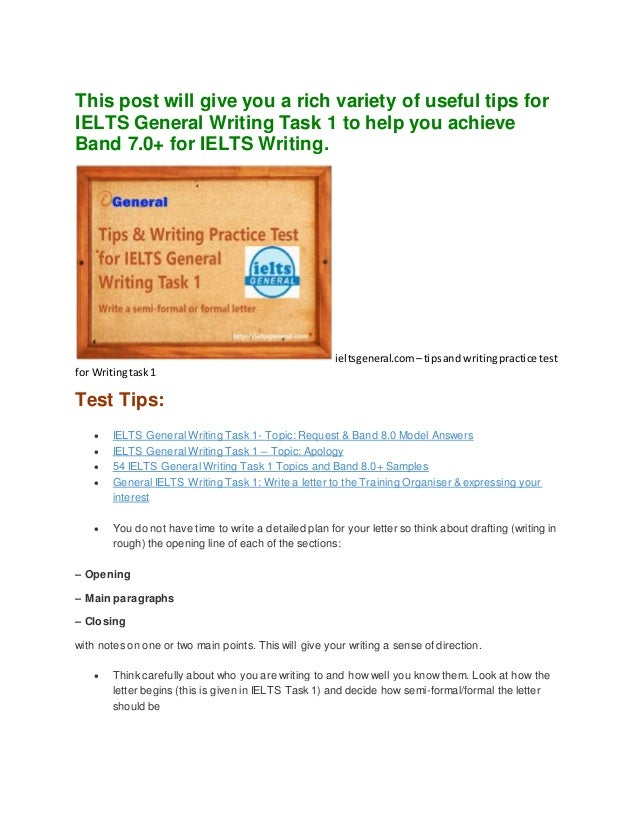 this post will give you a rich variety of useful tips for ielts general writing task