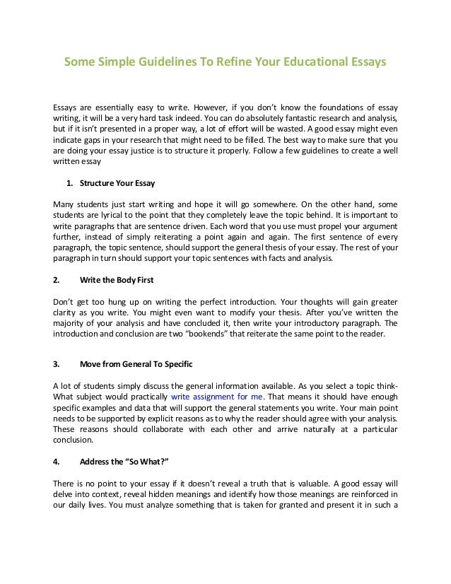 simple rules to writing an essay