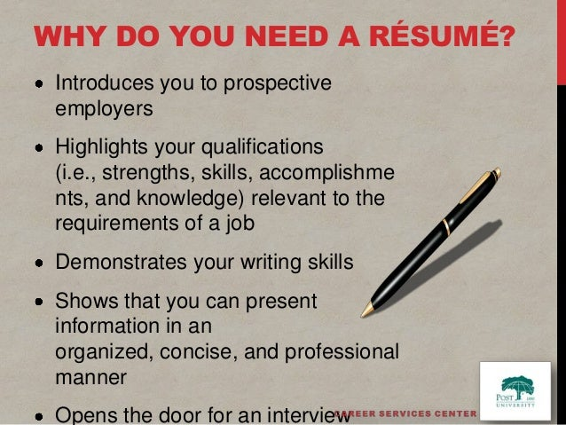 write a winning résumé powerpoint