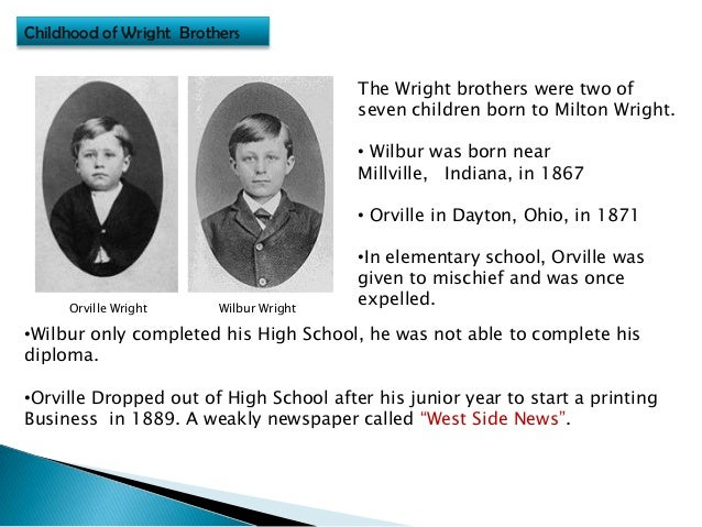 wright brothers essay The wright brothers greatest invention the wright brothers were great inventors, businessmen, and inspirationist led to an easier way of life and transportation.