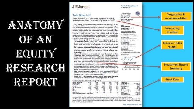 equity research report Equity research report: free sample reports, tutorials, and explanations of how equity research reports differ from stock pitches.