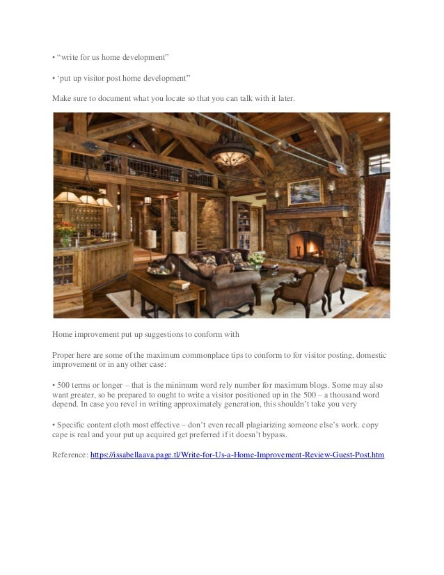 Write for us a home improvement review guest post
