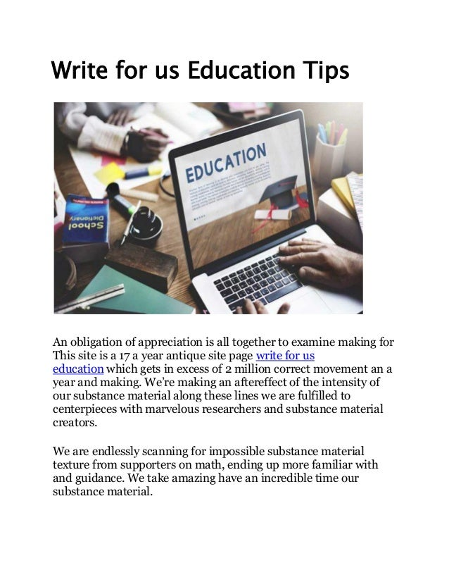 Write for us education tips