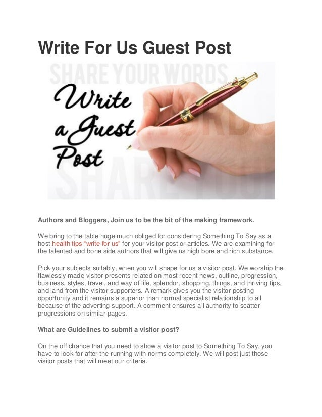Write for us guest post