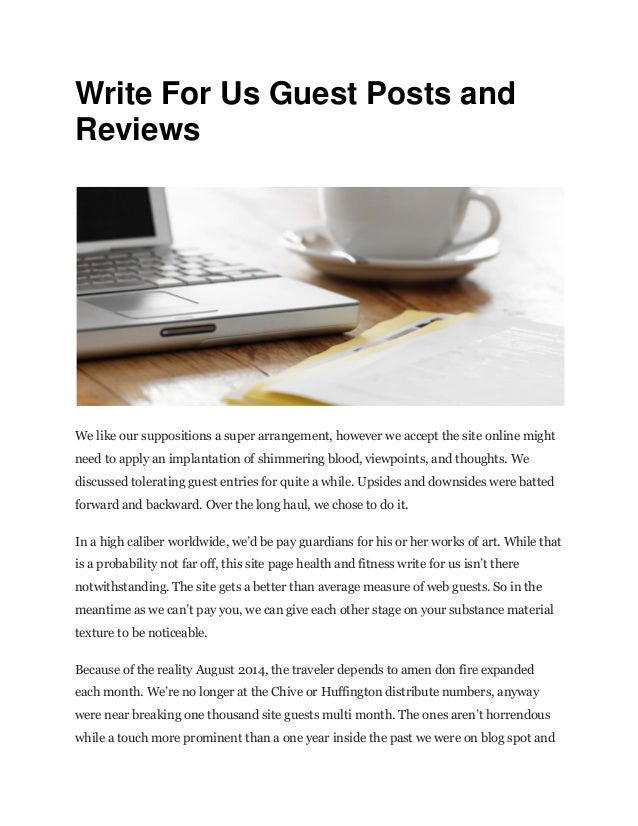 Write for us guest posts and reviews