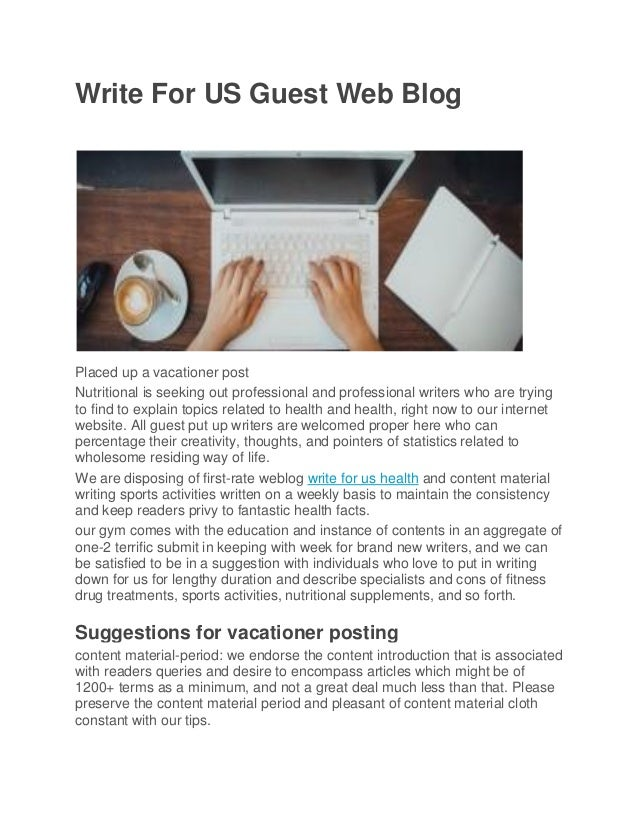 Write for us guest web blog