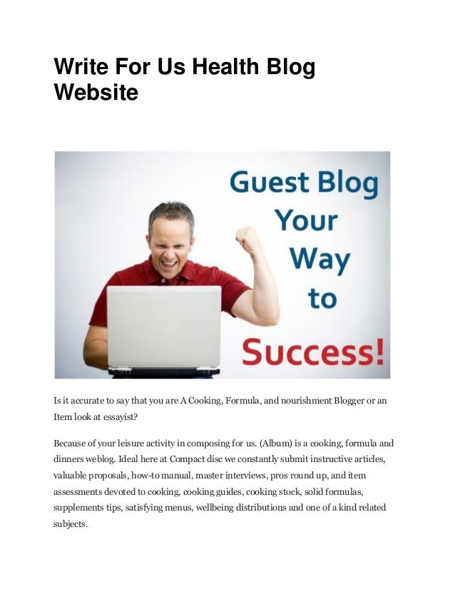 Write For Us Blog
