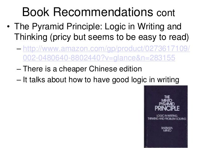 the pyramid principle logic in writing and thinking e-books online
