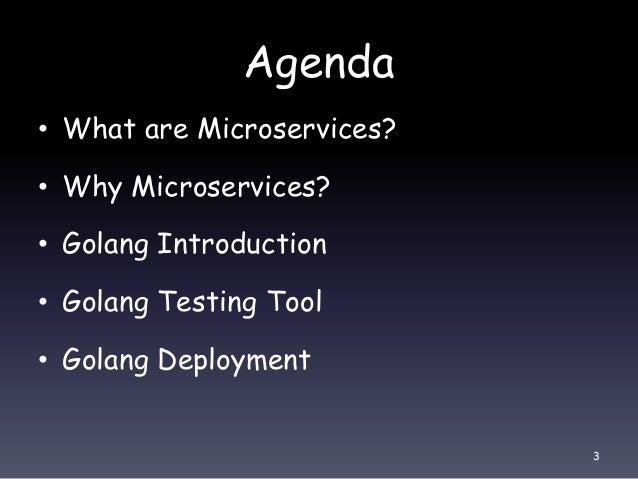 Write microservice in golang Slide 3