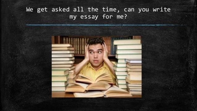 Write my essay com