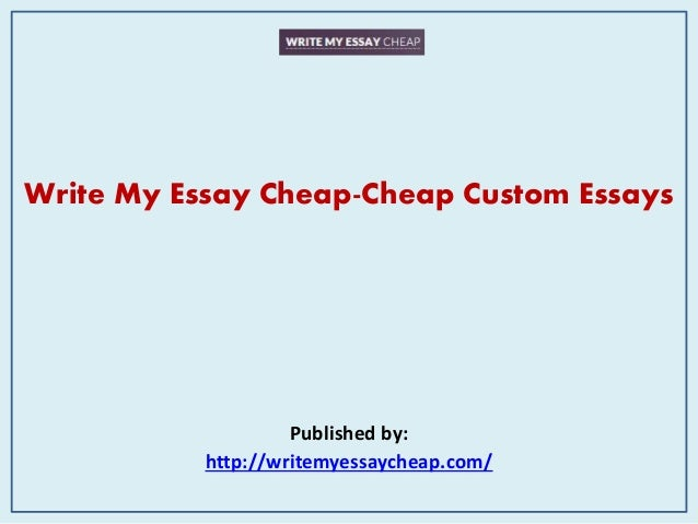 Write my paper cheap