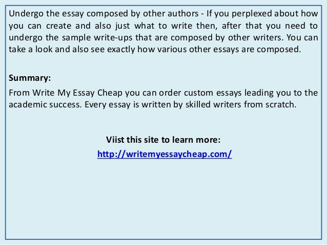 Cheap custom essays