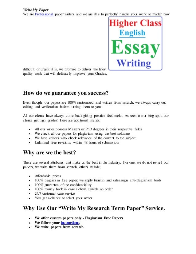 write my paper assignment