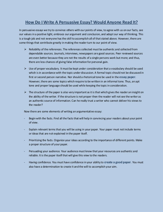 the persuasive essay slideshare