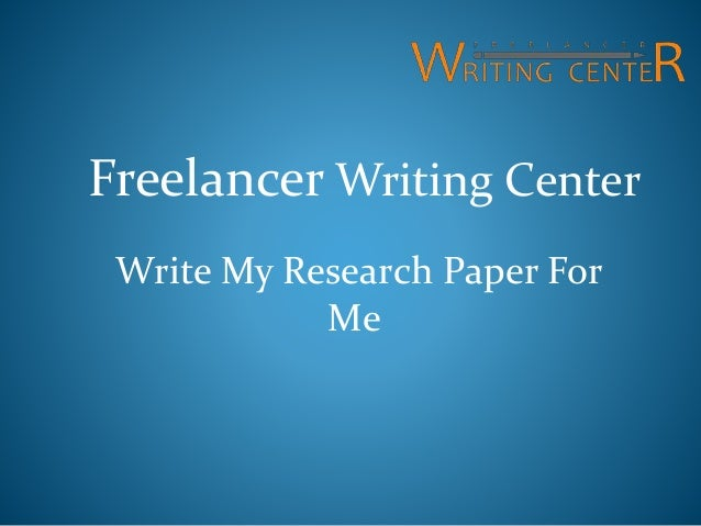 Write research paper for me
