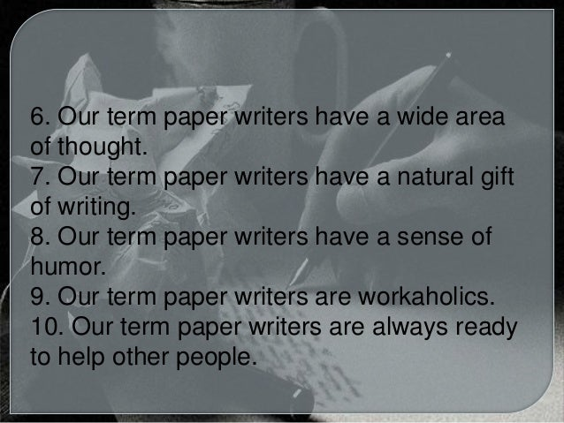 Write my term papers