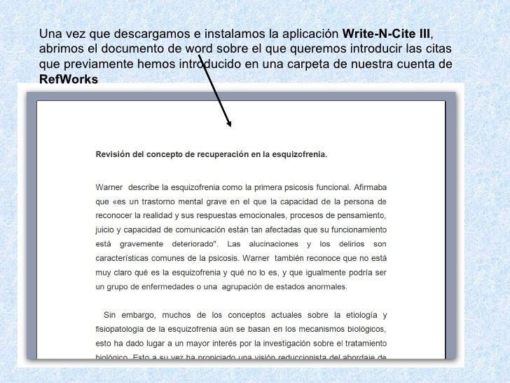 write n cite If you use refworks to manage citations, and you have upgraded to microsoft  office 2016 on your mac, you may have found that a write-n-cite add-in.