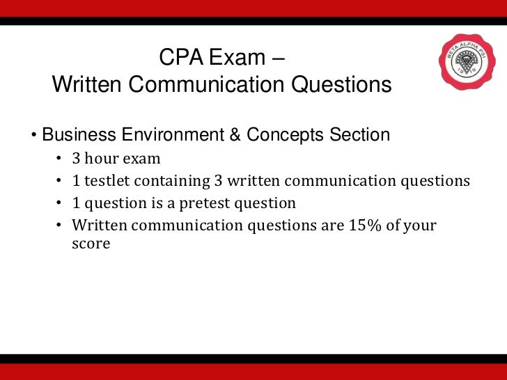 Write or Right-Writing Skills For the CPA Exam