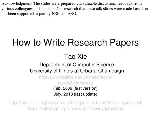 write results research paper