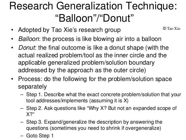 generalization in research paper