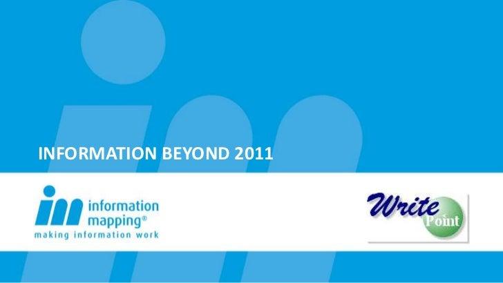 Information beyond 2011<br />