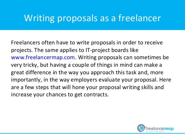 Freelancer Tip How To Write A Proposal As A Freelancer