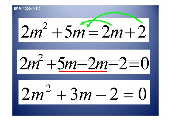 Write Quadratic Equation In General Form