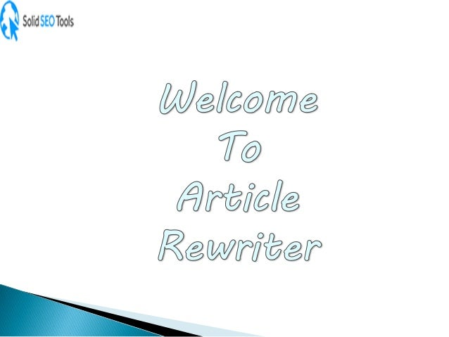 Article Rewriter is the best and free SEO tool that allows you to rewrite the article with flexibility. The competent tool...