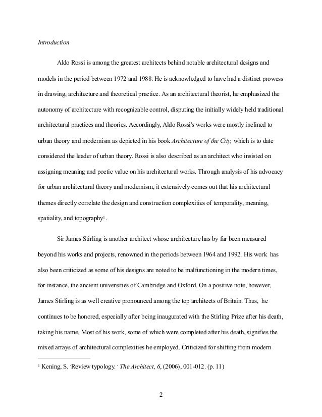 architecture essay example  4 construction
