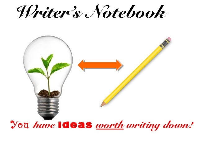 Writer's Notebook You have ideas worth writing down!